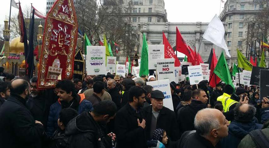 Hundreds Of Muslims Flooded London To Condemn Terrorism, The Media Ignored It march1