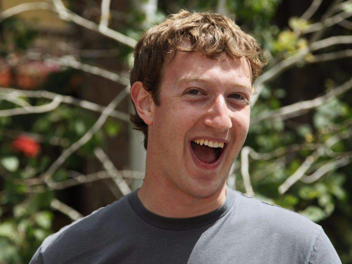 Thousands Of Facebook Users Thought Mark Zuckerberg Was Going To Make Them Rich mark zuckerberg laugh