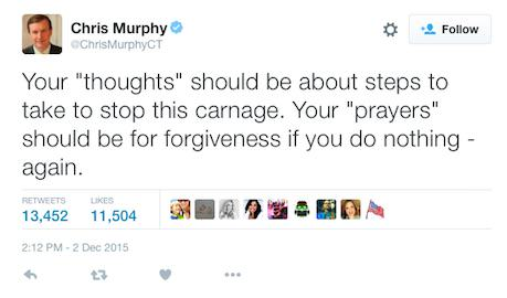 Senator Says Thoughts And Prayers For California Shooting Victims No Good murphytweet