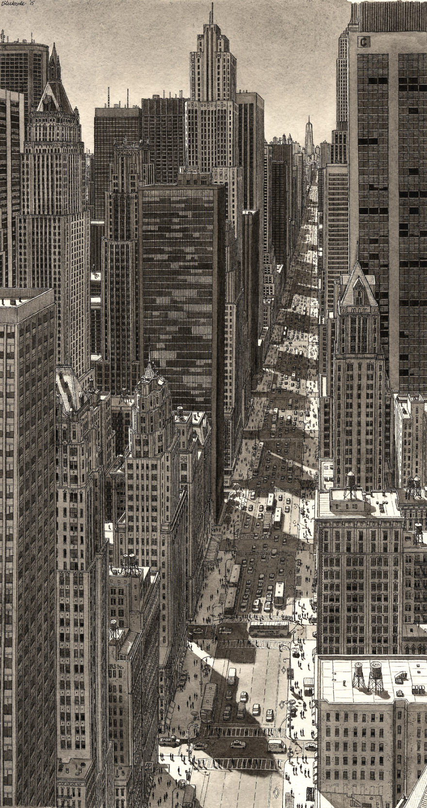 This Guy Draws Famous Cities From Memory And Theyre Unbelievable new york 2 1
