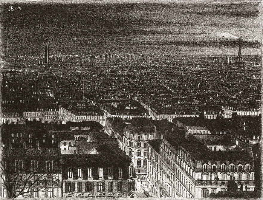 This Guy Draws Famous Cities From Memory And Theyre Unbelievable paris 1
