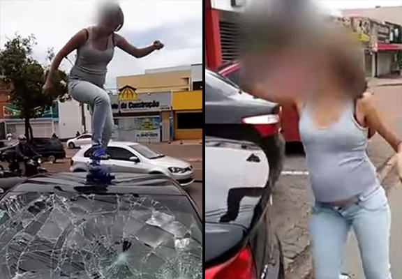 Pregnant Woman Catches Cheating Husband With Lover, Hits Him Where It Hurts pregnant smash WEB
