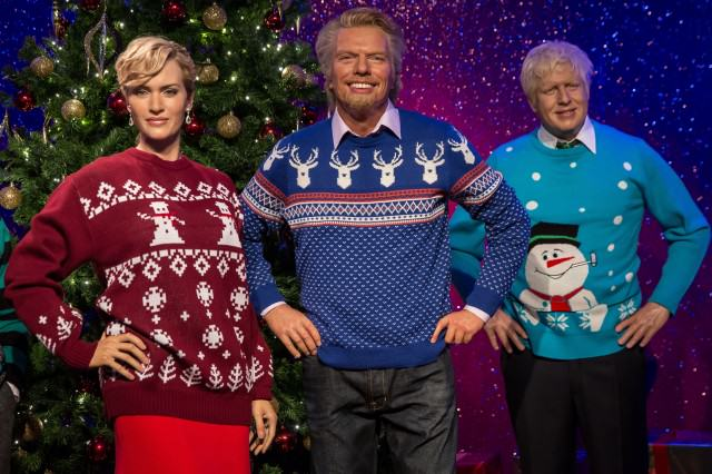 These Are The Things That Everyone Hates About Christmas richard branson waxwork christmas jumper 640x426