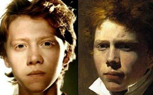 These Pictures Show Putin Isnt The Only Immortal Famous Guy rupert grint from harry potter looks like scottish painter sir david wilkie