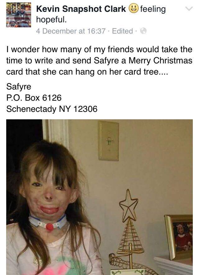Girl Who Lost Family In Arson Attack Just Wants Cards For Christmas saffy