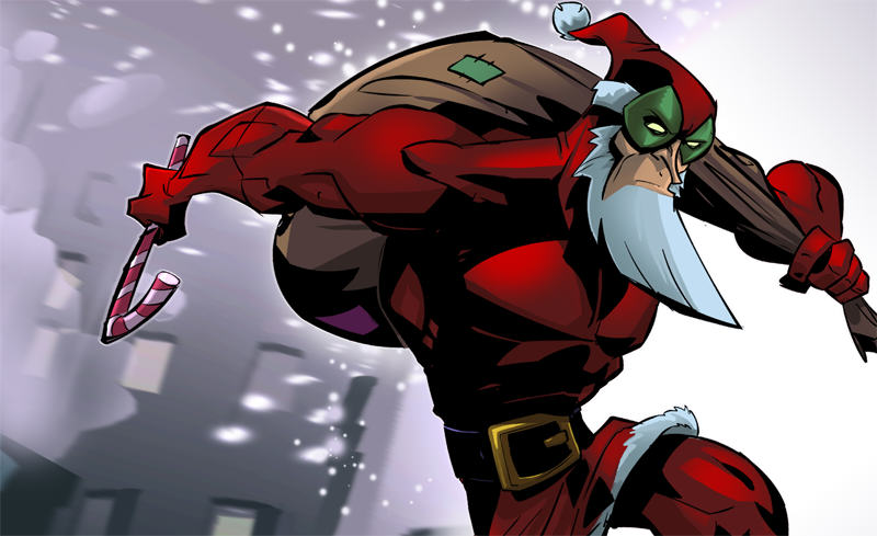 Ten Weird Things You Didnt Know About Christmas santaman hero
