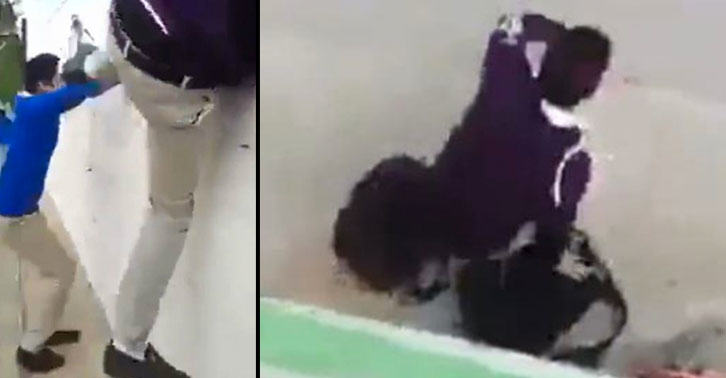 School Kid Jumps Wall To Escape Class, Instantly Regrets Decision school3