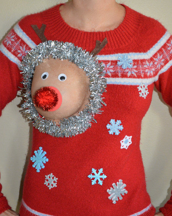 Have A Very Nippy Christmas With These Hilarious NSFW Jumpers sweater 1