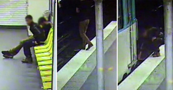 Moment Thief Robbed Victim Then Saved His Life Caught On CCTV thief hero FB