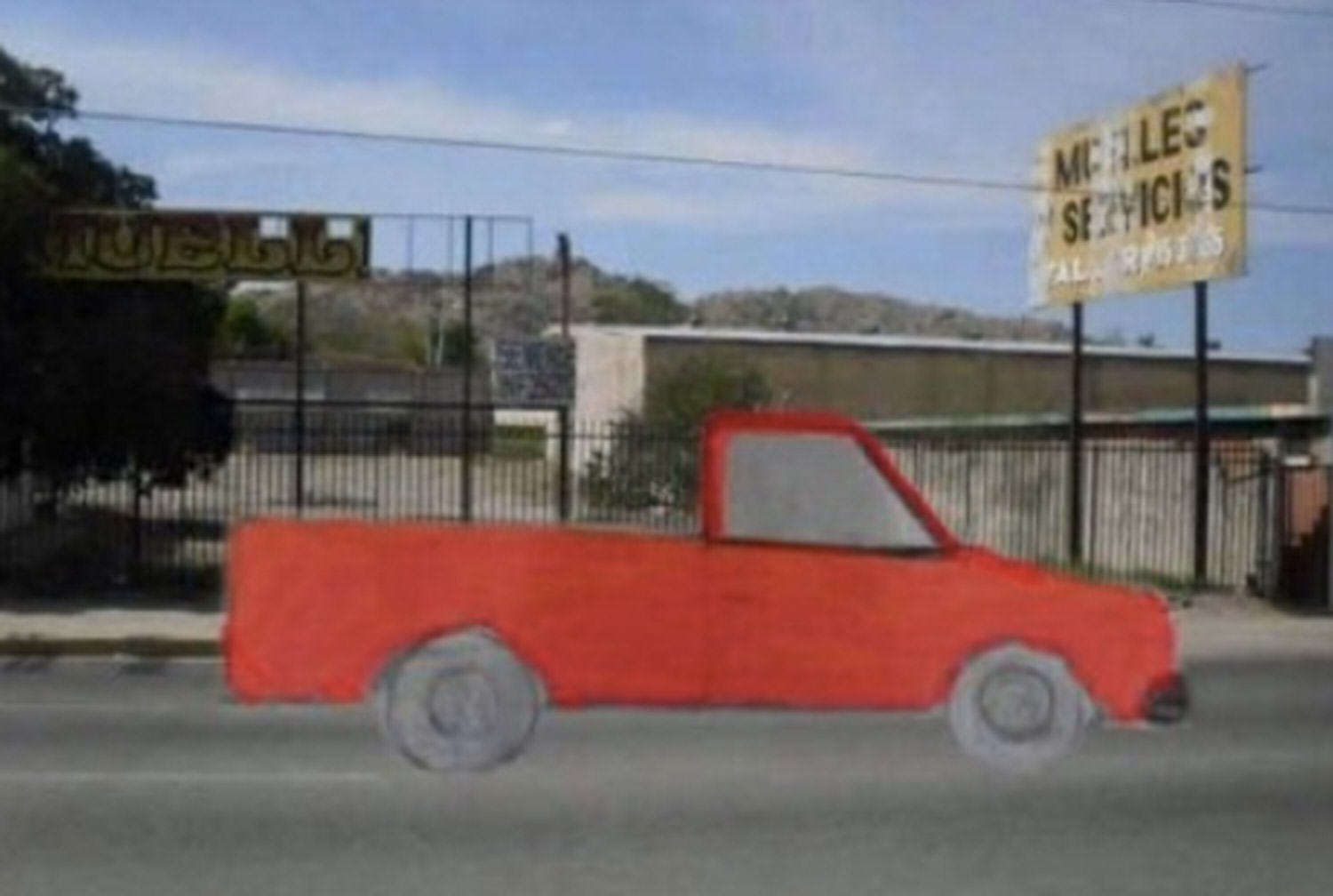 Woman Drew Stolen Truck And Asked Internet To Find It, Guess What Happened Next truck funny 4