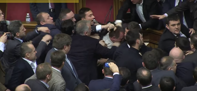 Politician Picks Up Ukrainian Prime Minister By Balls, Sparks Massive Fight In Parliament ukraine 5