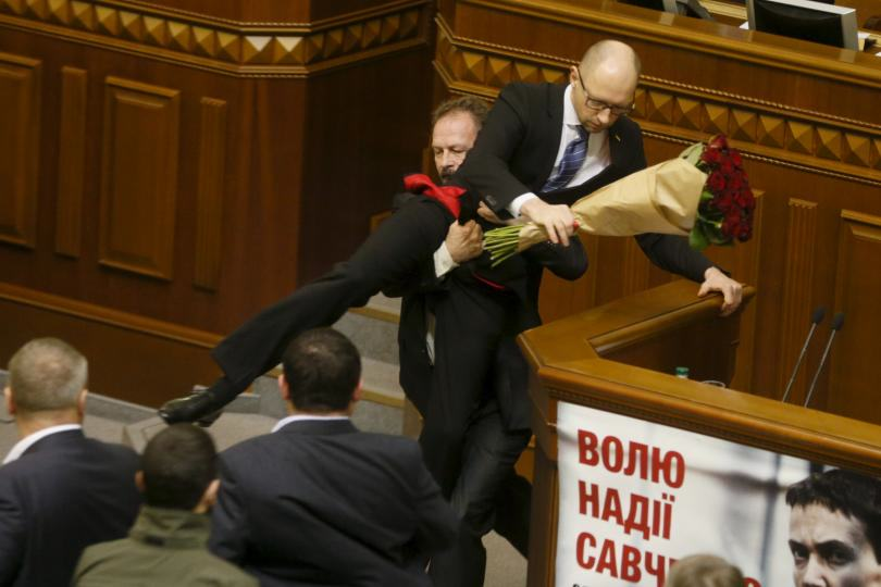 Politician Picks Up Ukrainian Prime Minister By Balls, Sparks Massive Fight In Parliament ukraine