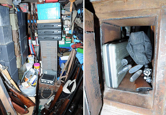 Largest Ever Collection Of Illegal Weapons Found In UK Mans Hidden Room weapons haul WEB