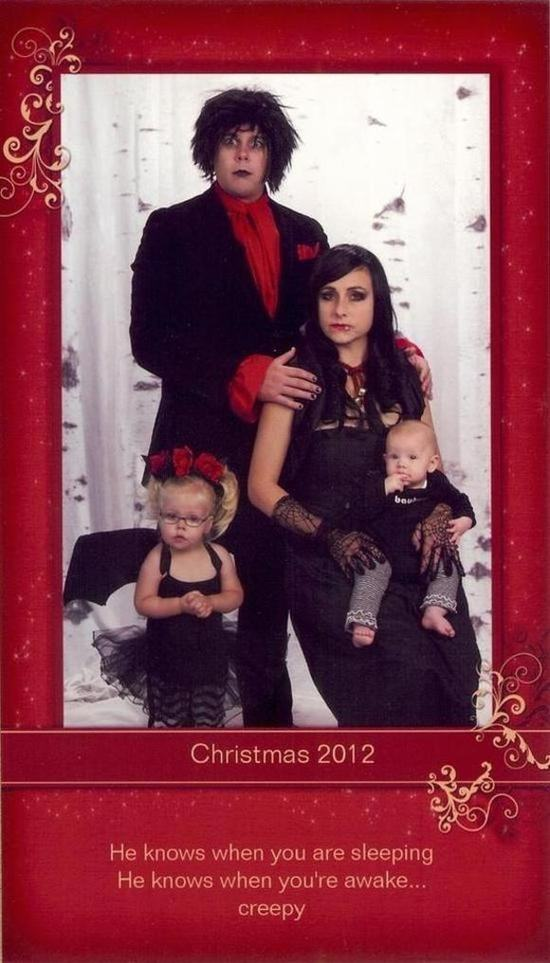 Family Win Christmas By Sending Hilariously Awkward Cards xmas cards11