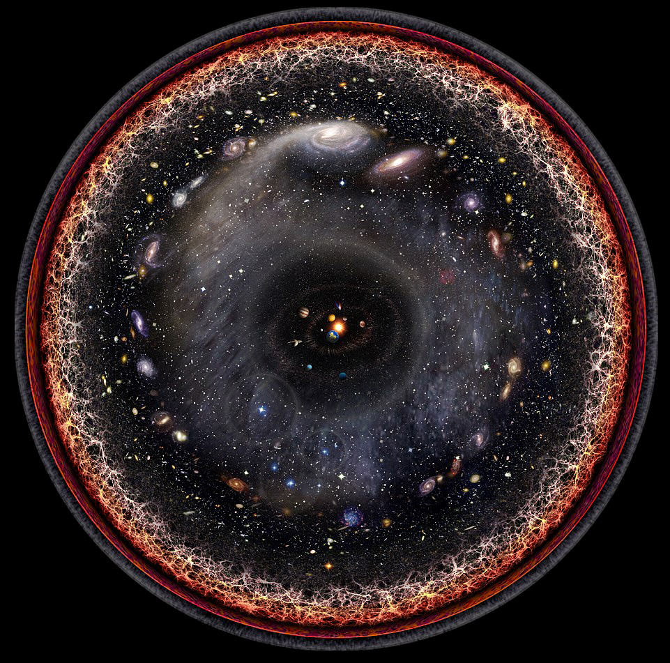If The Whole Universe Could Be Pictured It Would Apparently Look Like This 2FD1702300000578 3385768 An artist used logarithmic maps and satellite images to created  m 30 1452018128382 1