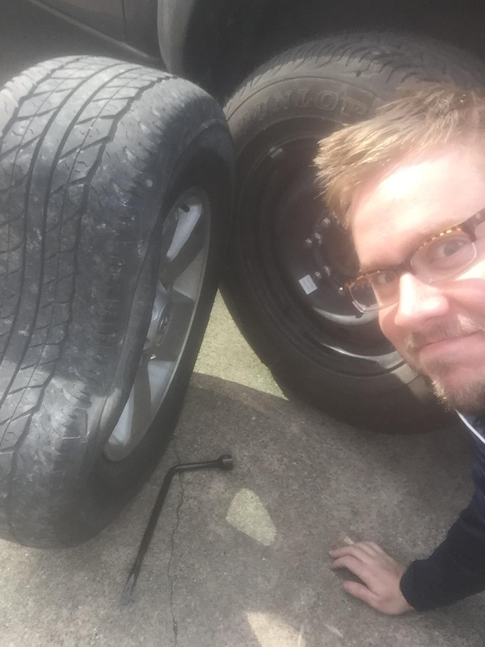 Guy Gets Flat Tire, Takes Opportunity To Troll The Sh*t Out Of His Mates 5