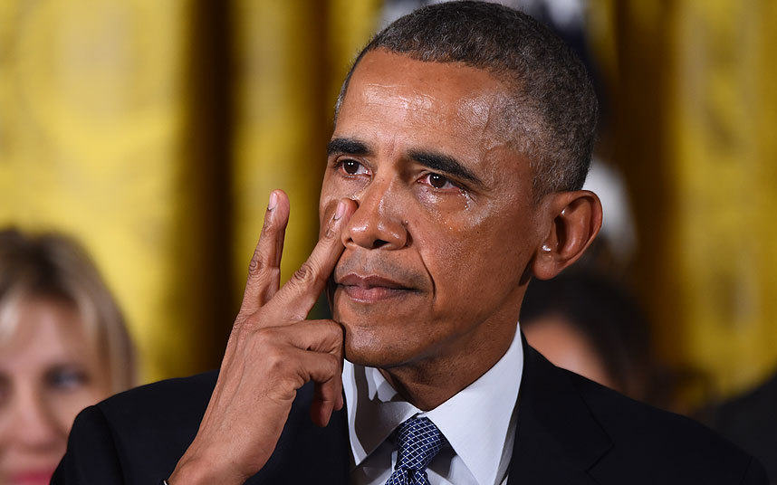 Daily Show Rips Fox News For Saying Obama Fake Cried About Gun Violence Barack Obama gets  3541878k