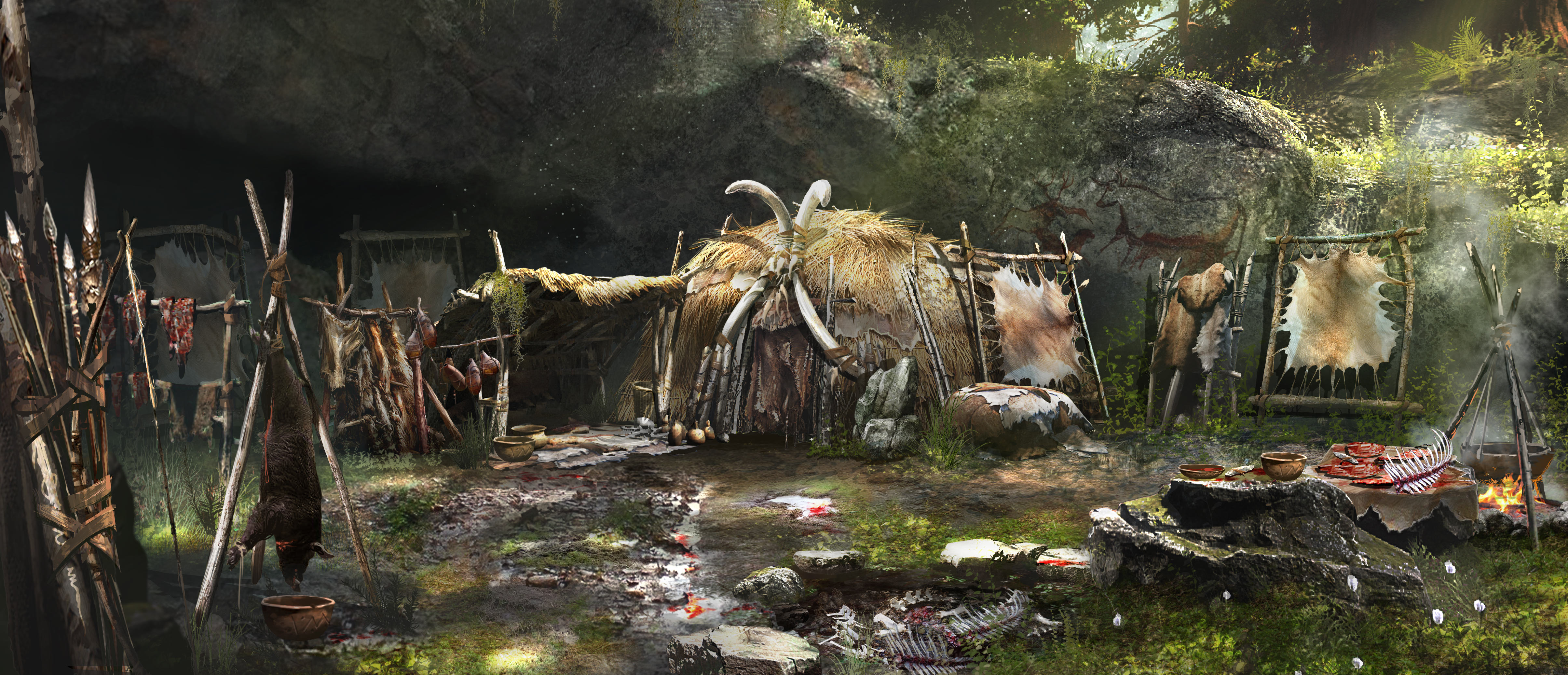 An Exclusive Look At Far Cry Primal Ahead Of Release Day FCP 01 CONCEPT WENJA VILLAGE HUNTER HUT PREVIEW PR 160126 6pm CET 1453716175