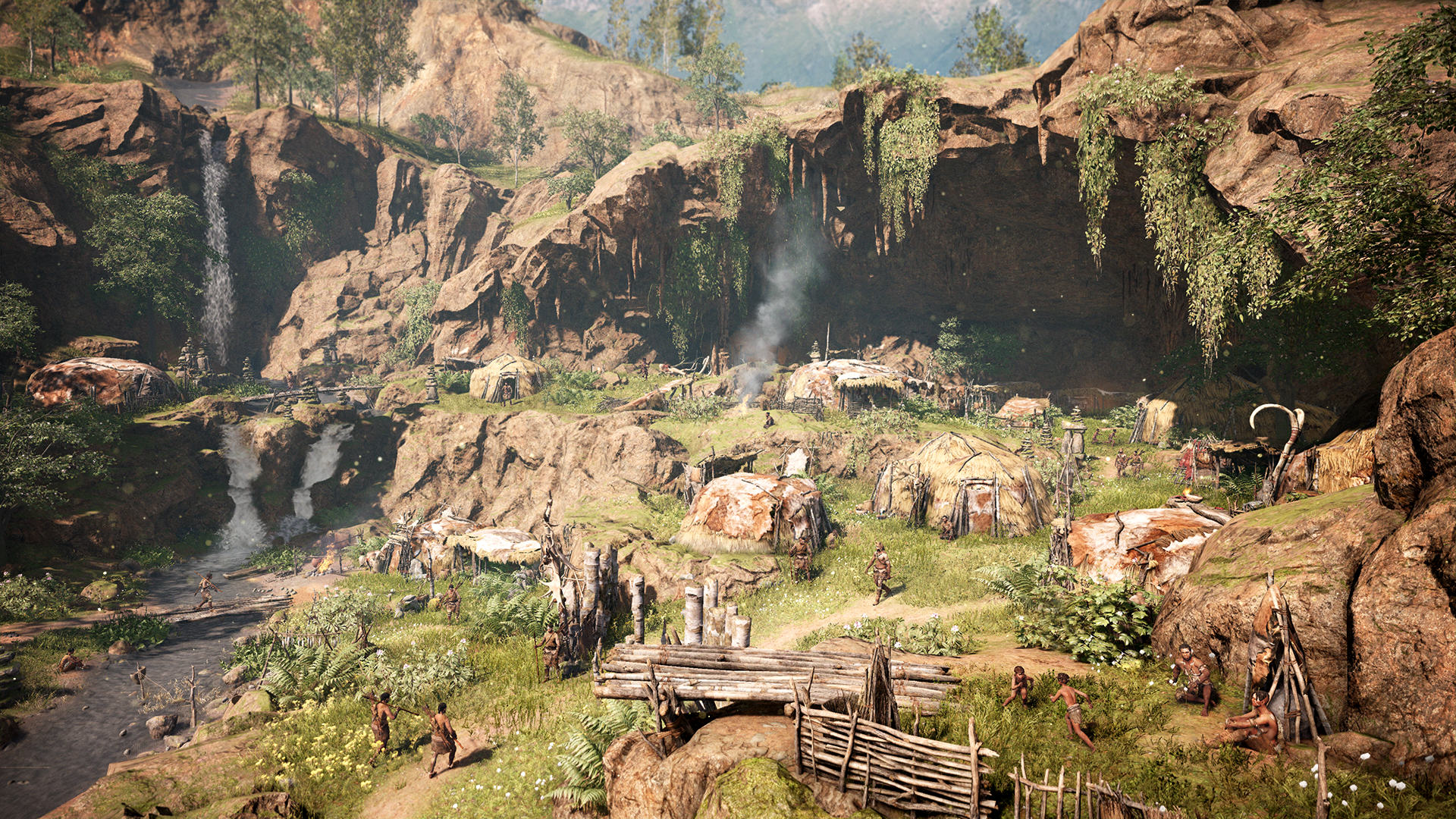 An Exclusive Look At Far Cry Primal Ahead Of Release Day FCP 08 Village Complete Screenshots PREVIEW PR 160126 6pm CET 1453716689