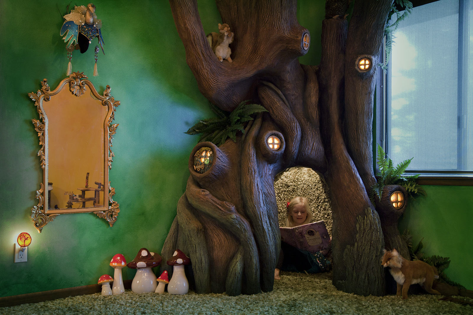This Dad Transformed His Daughters Bedroom Into A Magical Treehouse Kingdom I2Wv2Nx