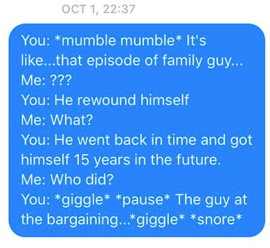 Wife Sends Hilarious Messages To Husband Quoting His Sleep Talk Screen Shot 2016 01 05 at 20.27.02