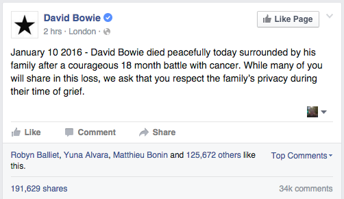 The Internet Reacts To The Death Of Legendary Rock Star David Bowie Screen Shot 2016 01 11 at 09.14.49