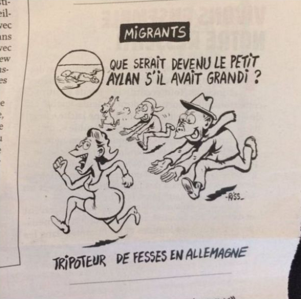 This New Charlie Hebdo Cartoon Is Pretty Out Of Order Screen Shot 2016 01 14 at 12.13.44