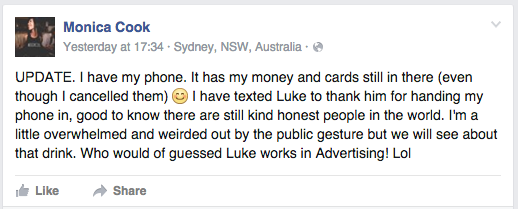 Man Finds Womans Phone, Hijacks Her Tinder And Leaves Creepiest Facebook Post Ever Screen Shot 2016 01 16 at 15.12.12