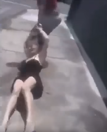 Brutal Video Shows Woman Beat Husbands Mistress And Throw Her Off Bridge Screen Shot 2016 01 18 at 10.24.19