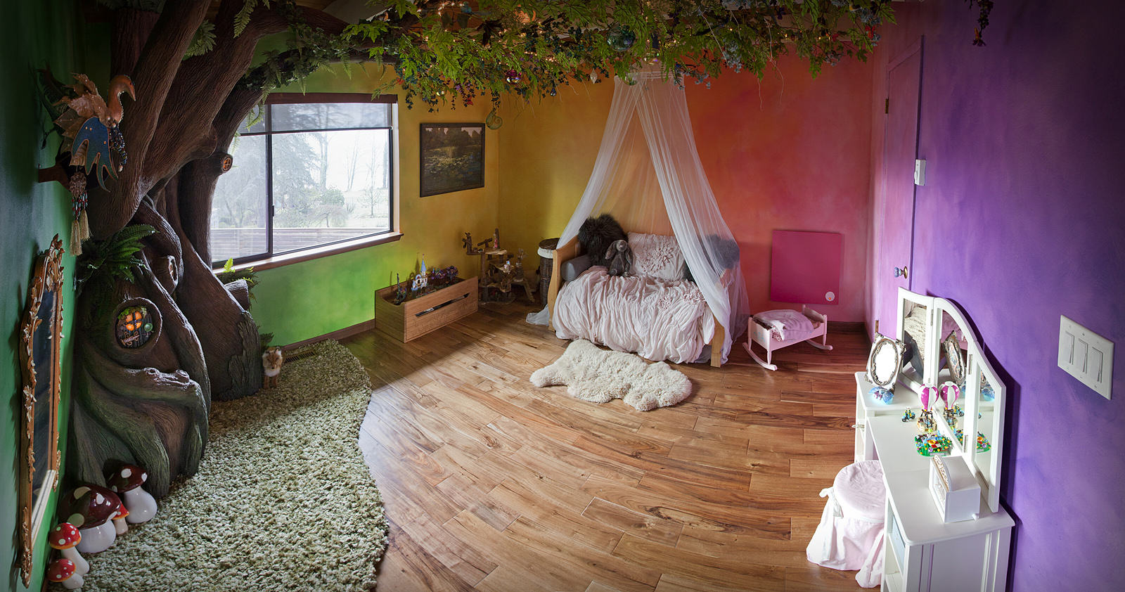 This Dad Transformed His Daughters Bedroom Into A Magical Treehouse Kingdom VDGvPhA