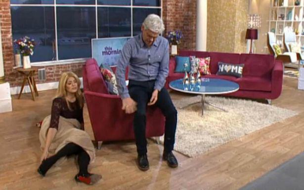 Holly Willoughby and Phillip Schofield present This Morning hungover