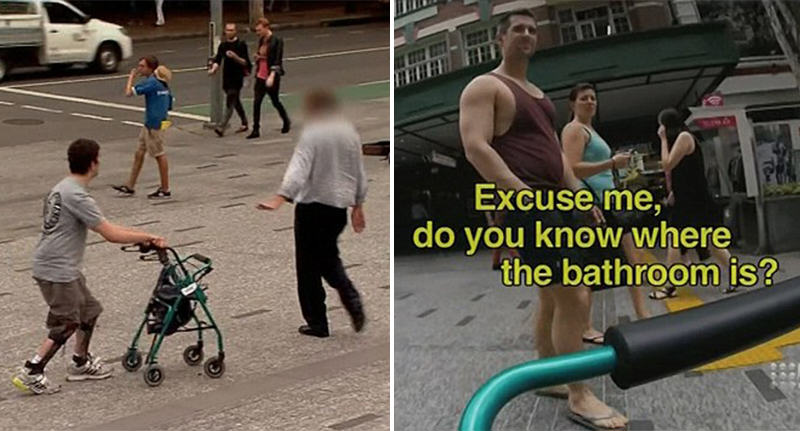 Shocking Social Experiment Shows How People Treat Person With Cerebral Palsy cerebral palsy experiment FB
