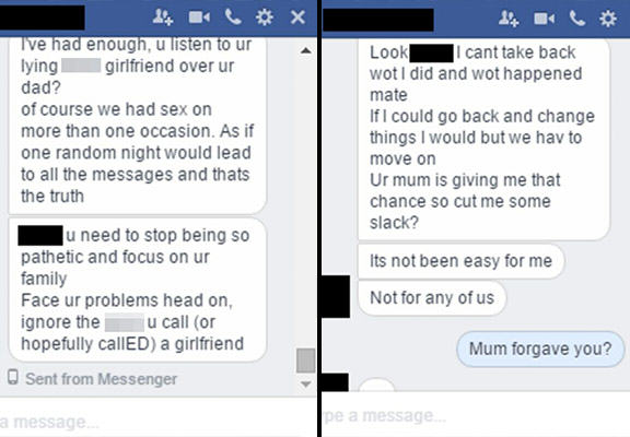 Devastated Guy Finds Out Girlfriend Was Cheating On Him With His Own Dad cheating texts 5 new