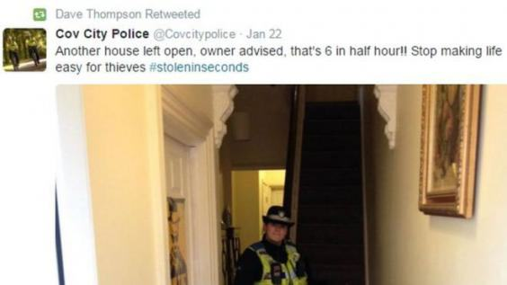 Police Have Been Going Into Peoples Homes And Tweeting Pictures coventry police