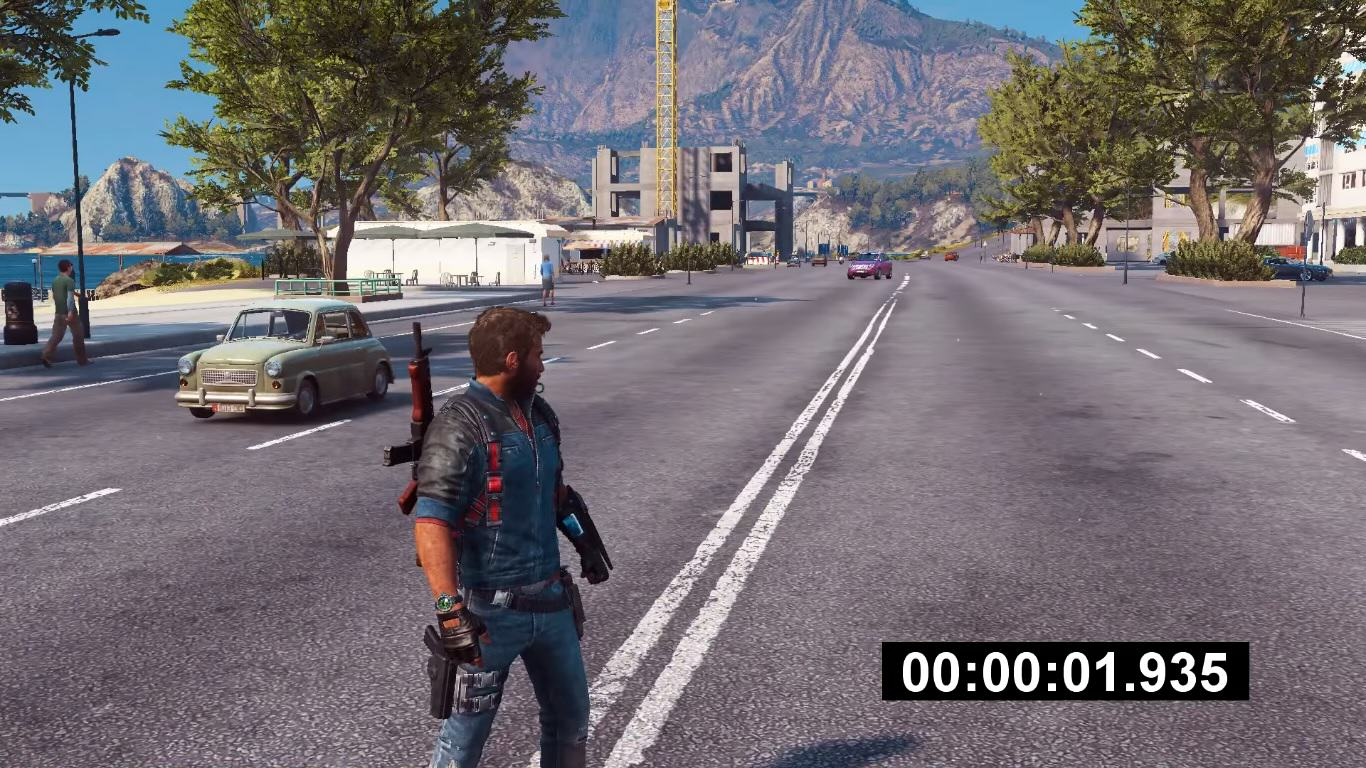 Guy Stands Perfectly Still In Just Cause 3, Society Collapses Around Him cuase