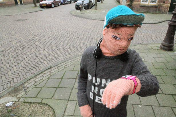 Mother Knits Life Size Version Of Her Son After He Hits Puberty doll 4