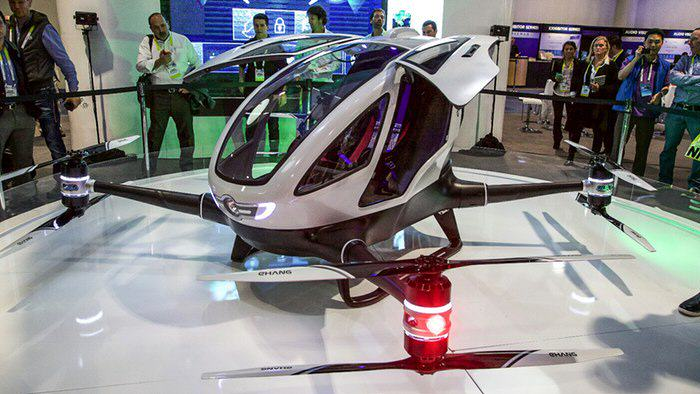 Theres An Incredible New Drone That You Can Actually Ride ehang 184 aav passenger drone 23