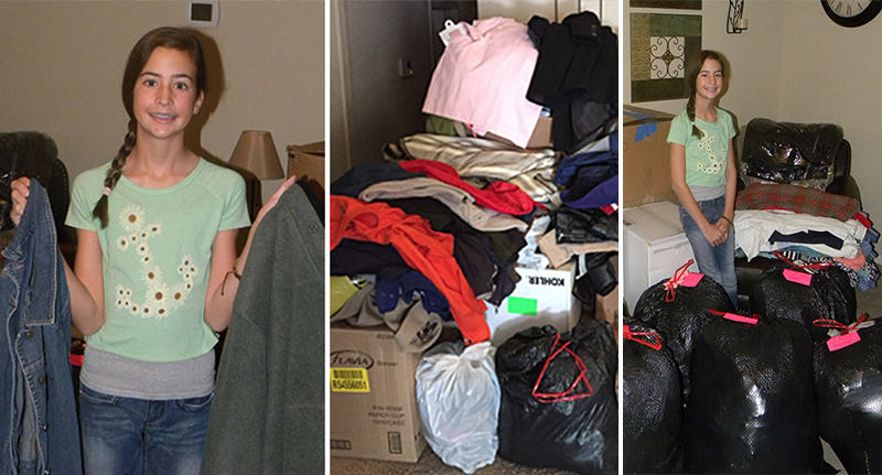 Christmas Helping Homeless.This Amazing 12 Year Old Girl Spent Her Christmas Helping
