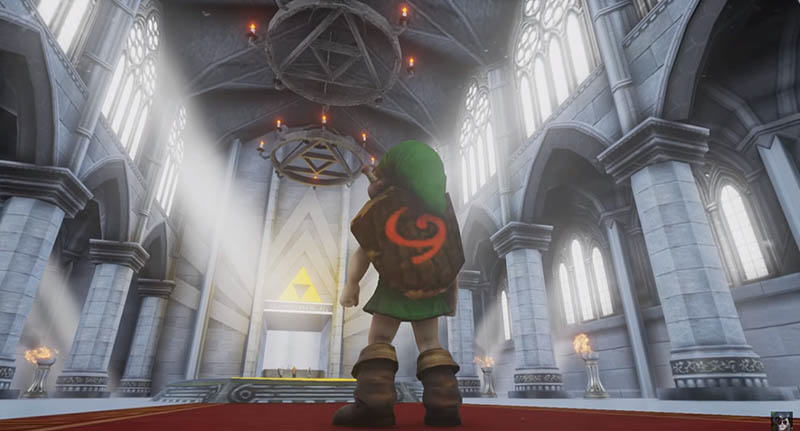 Ocarina Of Times Temple Of Time Stunningly Recreated In Unreal Engine 4 linksfacebook