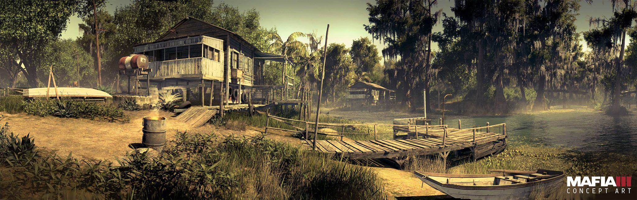 Check Out Every Awesome Piece Of Mafia 3 Concept Art Released mafia3 bayou concept art