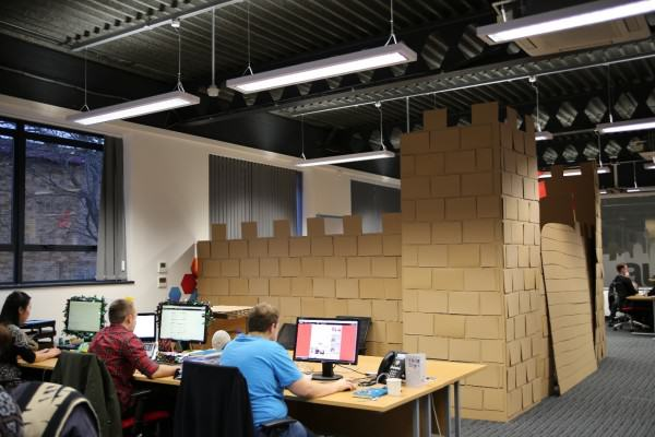These Guys Took Decorating Their Office To An Incredible Level office fort 3