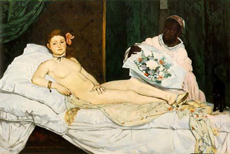 Female Artist Arrested After Stripping Naked In Paris Museum olympia1