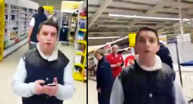 Man Confronts Teenagers In Tesco After They Scratch His Car opuhwef