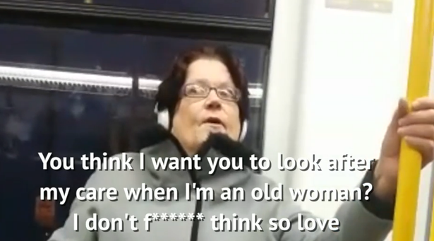 Shocking Video Of Womans Vile Racist Rant On Tram Goes Viral raciststill2