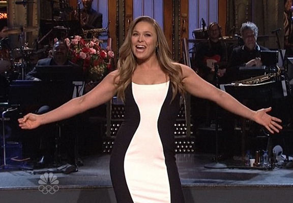 Ronda Rousey Speaks Out For First Time Since Holly Holm Loss rousey snl WEB