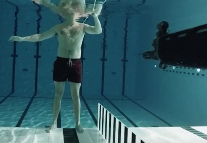 Science Nut Stands In Front Of Loaded Gun Under Water Because Physics science1
