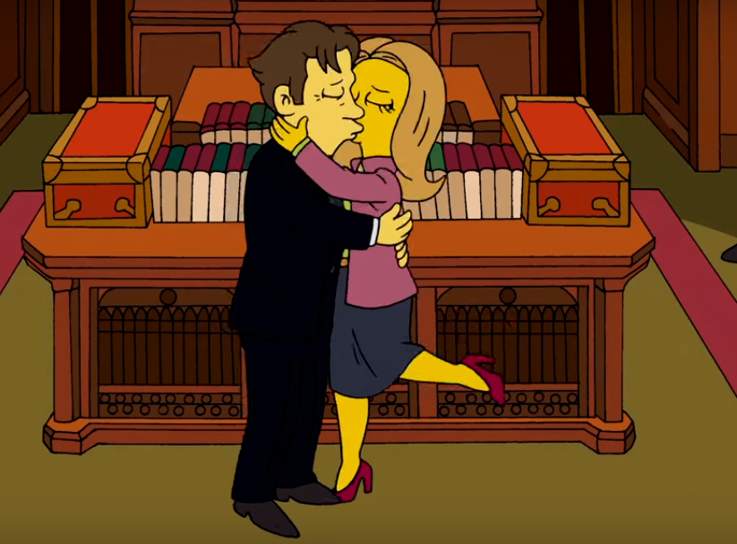 The Simpsons Pay Tribute To Alan Rickman and David Bowie In Brilliantly British Clip simpsons 2
