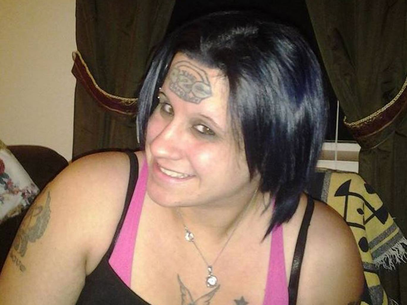 Woman Gets Ridiculous Forehead Tattoo, Uses Fundraising Site To Get It Removed tabitha west crowdfunding tatto
