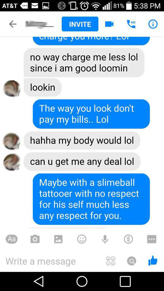 Girl Offers Sex In Exchange For Tattoo, Gets Shut Down In Best Way tattoo6
