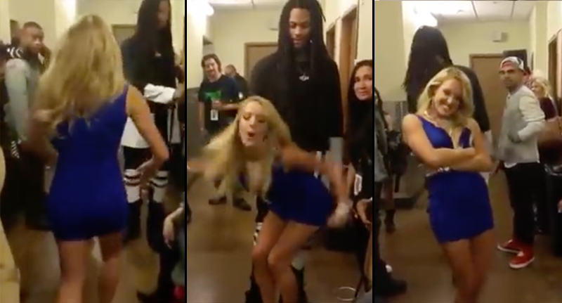Rapper Rejects Comedian Who Tries To Dance On Him In Hilariously Awkward Video woops 1